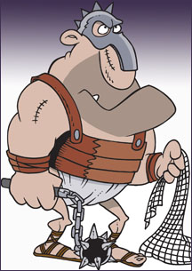 cartoon gladiator