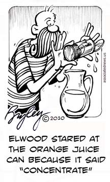 funny cartoons of Elwood by Bryley