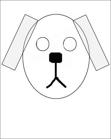 how to draw a dog the easy way
