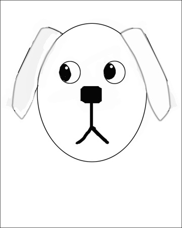 how to draw a dog in simple steps the easy way - Basic Drawings For Kids
