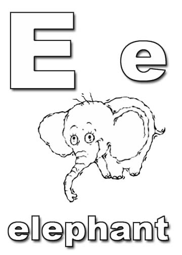 e coloring pages - photo #31