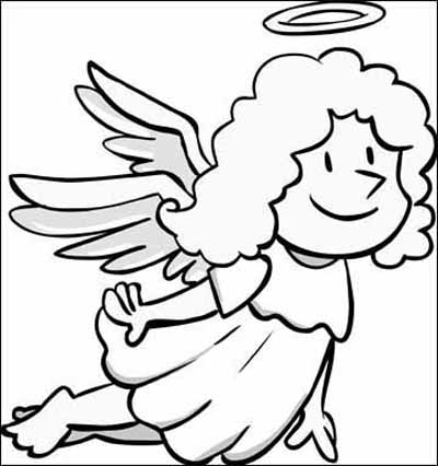 Angel coloring pages for all kids creative for Angel coloring pages