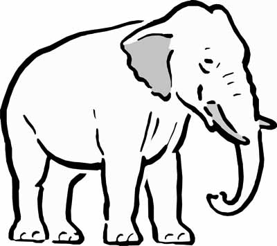 animal coloring pages elephant