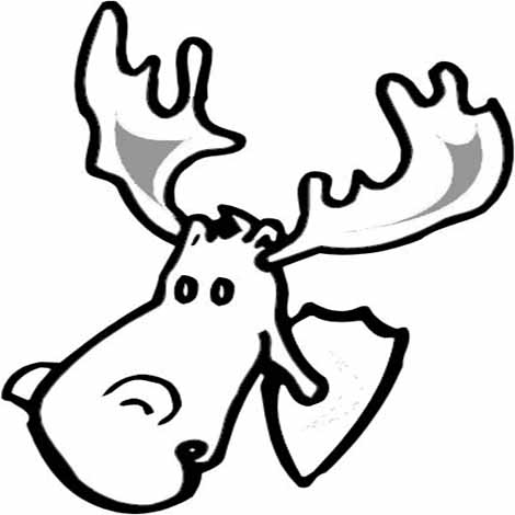 Animal Coloring Pages. Moose