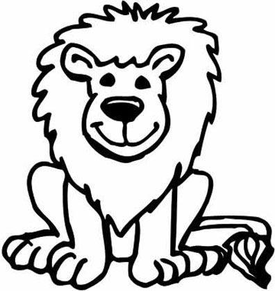 kids animal coloring pages cartoon lion - Cartoon Pictures Of Animals To Color In