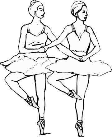 Original ballet coloring pages you are going to color in for Dancers coloring pages