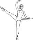 printable ballet coloring page