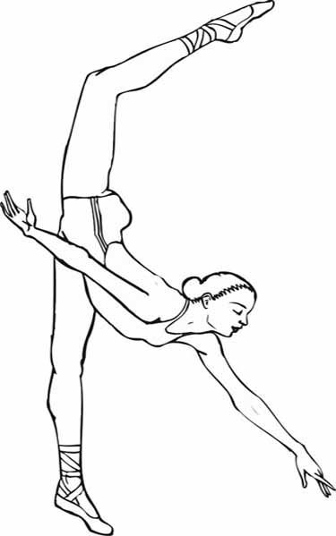 coloring page ballerina - original ballet coloring pages you are going to color in