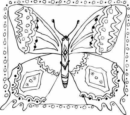free printable butterfly coloring pages - Coloring Pages Butterfly Kids