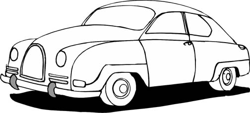 car coloring pages - Car Coloring Page