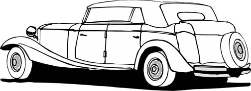 coloring pages antique cars | Car Coloring Pages For Kids Who Love Cars!
