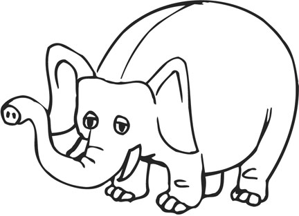 images of cartoon characters coloring. Cartoon Elephant