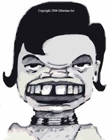 Condi Rice in a Happy Mood