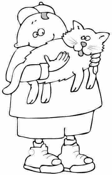Cat Coloring Pages From Kittens to Big Cats, Small cats and Fat Cats
