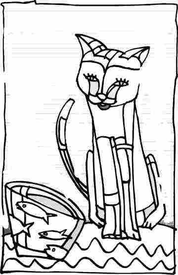 Cat Coloring Pages From Kittens