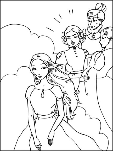 Beautiful Cinderella Coloring Pages