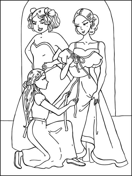 coloring pages of sisters - photo#21