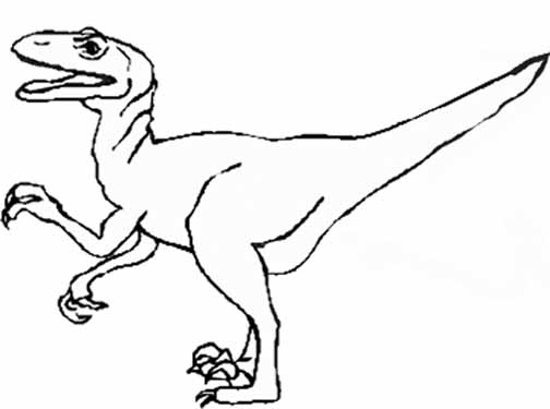 Monstrous Dinosaur Coloring Pages - Click on Image to Print