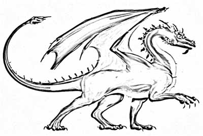 Dragon Coloring Pages on Fiery Dragon Coloring Pages   Pour On Your Bright Reds And Get Flamed