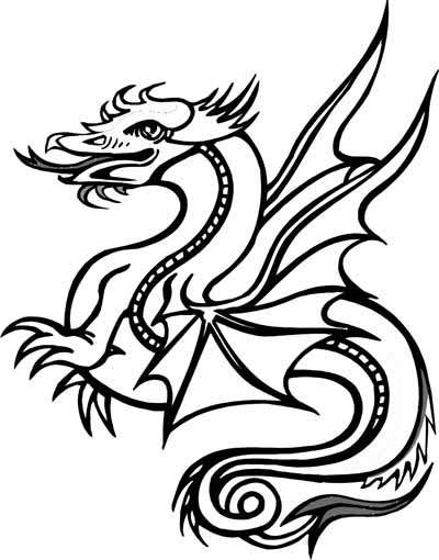 printable coloring pages dragons | Sylvie Guillems