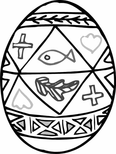 Christian Easter Egg Coloring Pages