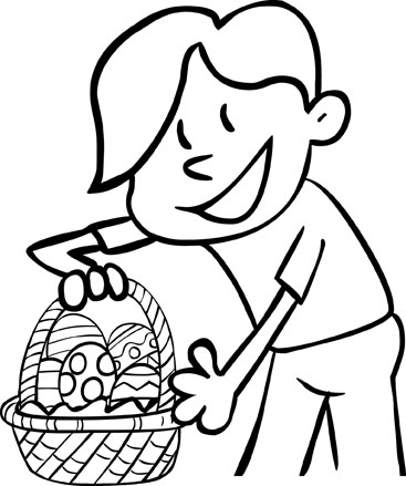 happy easter coloring pages for kids. Happy Easter