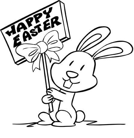Happy Easter Clip Art Black And White30fpervkkp on e 150