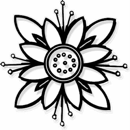 Flower Coloring Pages on Beautiful Flower Coloring Pages With Delicate Forms Of Natural