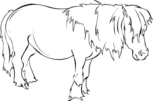 free horse coloring pages - Free Horse Coloring Pages