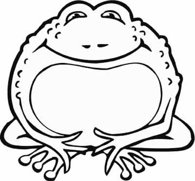 Frog cartoon coloring pages ~ Frog Coloring Pages