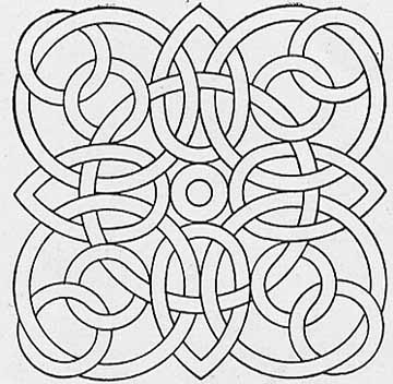 easy geometric design coloring pages - photo#35