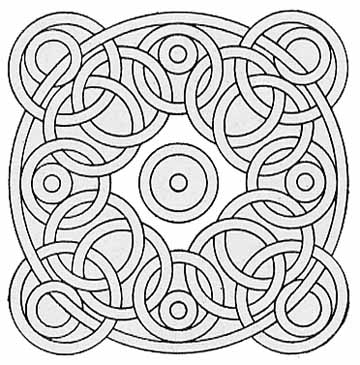 3d Geometric Design Coloring Pages