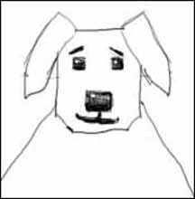 how to draw a dogs head