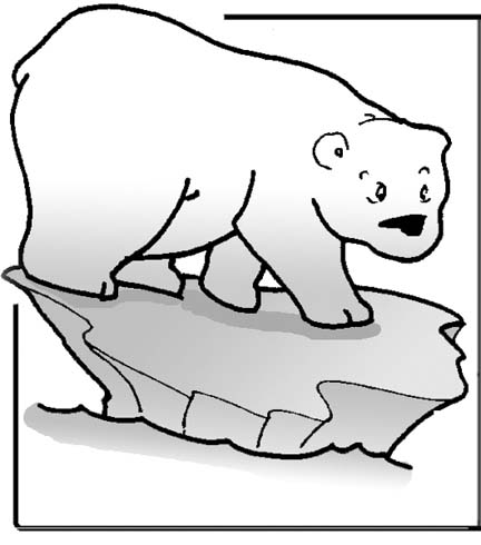 Polar bear coloring pages for young children who love to for Coloring pages polar bear