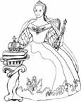 funny princess coloring pages