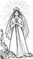 rose princess coloring pages