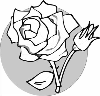 Rose Coloring Pages With Subtle Shapes And Forms Can Be